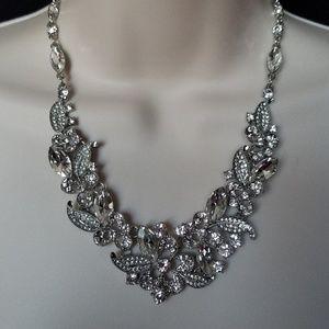 Prom Wedding Rhinestones Necklace Earring Set